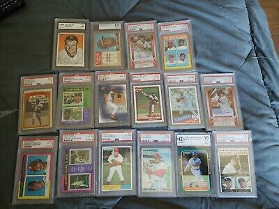 Vintage Baseball Cards Topps Fleer Donruss 65 Card Lots 50's-current HOF LOT