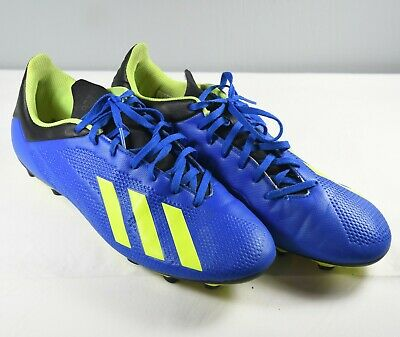 db9c69a25 Adidas X 18.4 FG Soccer Cleats Football Blue   Solar Yellow   Black Size  11.5