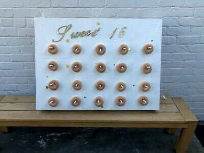 Donut wall - handmade, white for birthdays and special occasions, fits 20 donuts