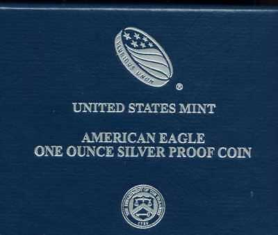 2019 W Proof Silver Eagle One 1 Ounce Silver Dollar Coa Box Etc West Point Mint