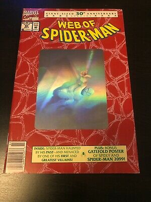 WEB OF SPIDER-MAN #90 (Marvel,1992) 30th Anniversary Silver Hologram Cover
