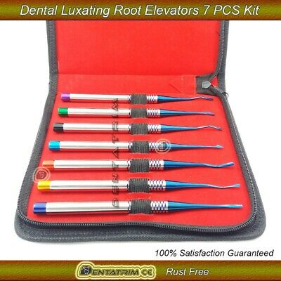 Dental Implant PDL Root Elevators Luxating Instruments Surgical Precise Tips 7pc