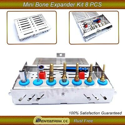 Bone Expander Screws Dental Implant Trephine Sinus Lift 8 Pcs Folding Mini Kit