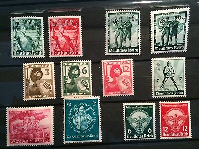 Germany Deutsche Reicht stamps 1937-1945 Various Sets MNH great value TOP