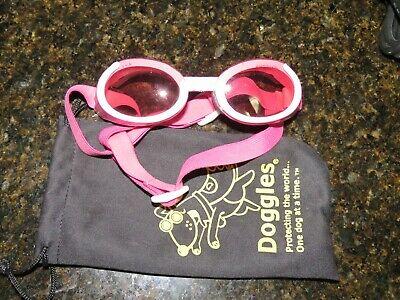 DOGGLES DOG SUNGLASSES - LARGE PINK FRAME PINK LENS pre owned