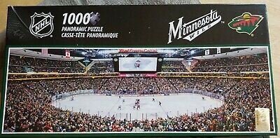 NEW MasterPieces Minnesota Wild NHL 1000 Piece Panoramic Puzzle USA