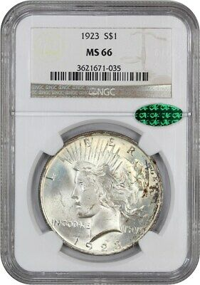 1923 $1 NGC/CAC MS66 - Peace Silver Dollar