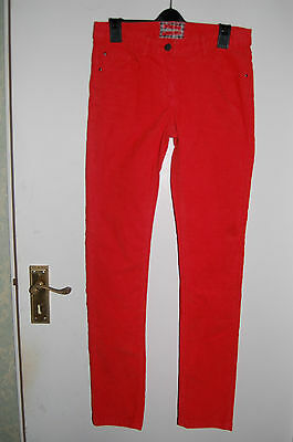 Orange Corded Straight Leg Trousers Age 14 Years BNWOT