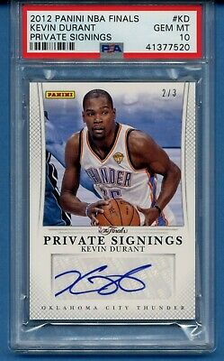 995b2b138a8b PSA 10 Kevin Durant 2012 NBA The Finals Private Signing Auto  3 Warriors  BGS 9.5