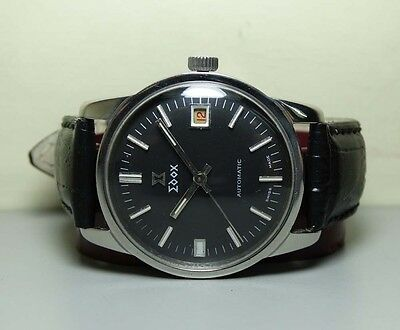 Vintage Edox Automatic Date Swiss Mens Wrist Watch H458 OLD USED Antique Superb