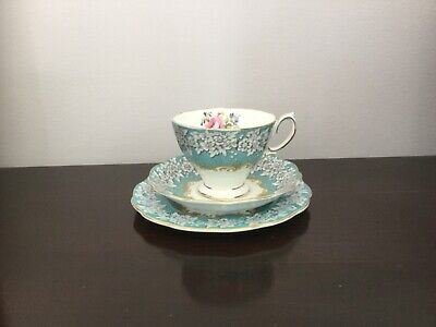 Royal Albert 'Enchantment' Fine Bone China Tea Cup, Saucer and Plate Trio
