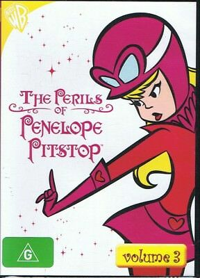 THE PERILS OF PENELOPE PITSTOP DVD (Volume 3) Wacky Races NEW & SEALED Free Post