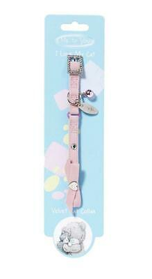 Me To You Collier en Velours pour Chat Rose