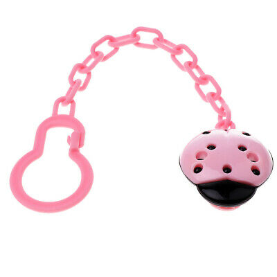 Dummy Clips Cartoon Holder Soother Pacifier Chain Boys Girls Baby Strap Pink