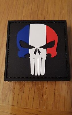 écusson patch   velcro punisher 5X5cm PVC neuf France