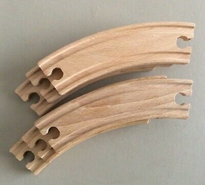 wooden train track curves with double female connectors brio compatible