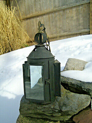 Antique Hanging Mission Arts & Crafts Porch Sconce Electric Light Lamp Witch Hat
