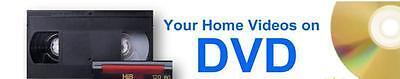 VIDEO TO DVD TRANSFER SERVICE (We convert video tape VHS, VHS-C, MINI DV, 8MM)