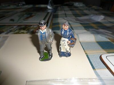 Vintage diecast Britians farmer and wife figures