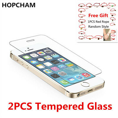 100% Genuine Tempered Glass Screen Protector Film For Apple iPhone 5 5C 5S 5SE