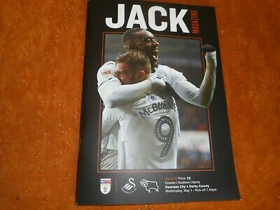 SWANSEA CITY  v  DERBY COUNTY  2018/19 ~ MAY 1st   MINT UNREAD   ***FREE POST***