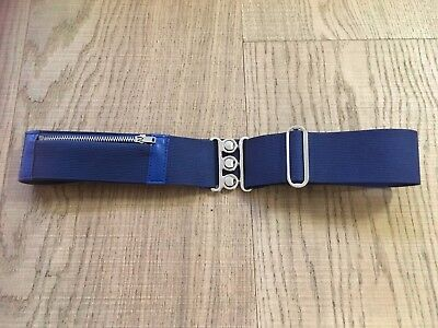 Girl's Adjustable School Purse Belt With Zip Fastener Pocket Royal Blue *New*