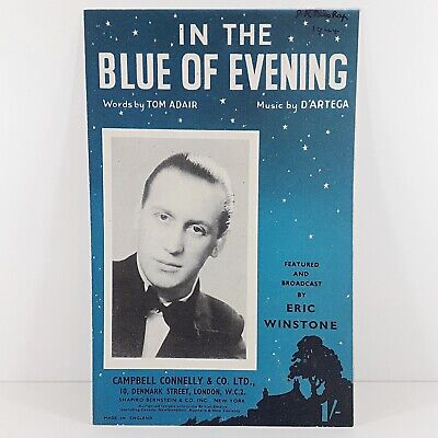 In The Blue Of Evening - Eric Winstone - Vintage Sheet Music 1942