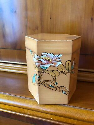 Chinese Vintage Wooden Tea Caddy