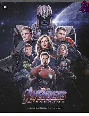 4 Tickets For Avengers: Endgame. Opening Night 4/25/19 at 7:30 pm