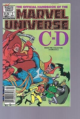 High Grade Canadian Newsstand Edition Marvel Universe #3 $1.25 Price