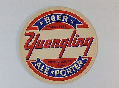 Yuengling Lager Beer Coaster Pottsville PA 1940's
