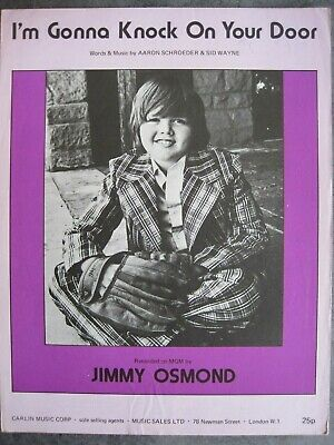 """""""i'm Gonna Knock On Your Door.""""      Jimmy Osmond.    Sheet Music."""