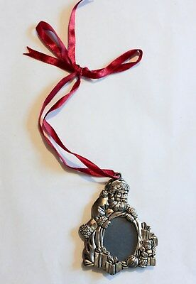 Gorham Silver Plate Silverplate Christmas Santa Picture Frame Ornament 3.75""