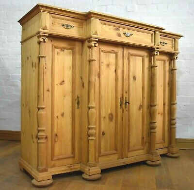 Antique style pine very large sideboard - dresser cupboard - side cabinet