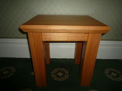 Unique Solid Pitch Pine Wooden  Lamp Table Antique Wood Repuposed  Church Pews