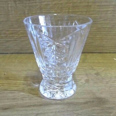 Small Crystal Glass Bud Vase 82mm Tall