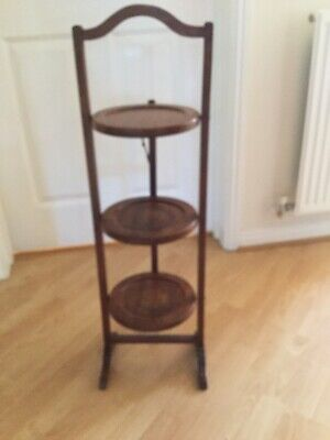 Vintage wooden 3 Tier folding cake stand