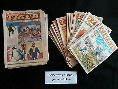 Tiger comics 1970 1971 1972 1973 in fine condition - Choose issues at £3.99 each
