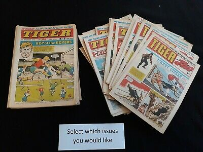 Tiger comics 1969 1970 1971 1972 reading issues - Choose issues at £1.99 each