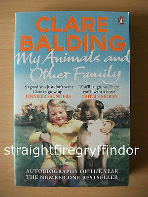 """""""My Animals and Other Family"""" by Clare Balding Paperback Book NEW autobiography"""