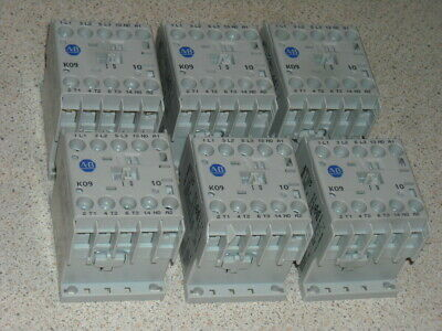 AB Allen Bradley K09 4 pole 3 phase 24V DC coil contactor relay 6 off