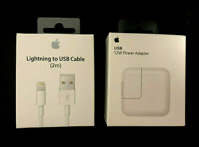OEM 12W USB Power Adapter Wall Charger for Apple iPad 2 3 4 Air & 2M Cable