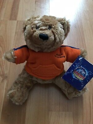 """Rare Keel ALTON TOWERS TEDDY BEAR 9"""" Approx Excellent Condition Tags From birth"""