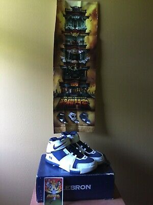 huge discount 4a645 88bdb 2004 Nike Zoom LeBron 2 II White Navy Size 13 309378-441 jordan Cavs All