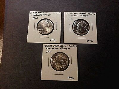 2013 AMERICA the BEAUTIFUL QUARTERS WHITE MT. N.F. SET of 3 P,D,S UNC COND.