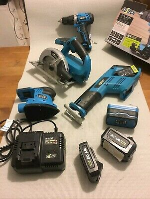 Cotech Cordless 18v LXC: Drill, Circular Saw, recip Saw, Sander & accessories