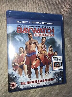 Baywatch Blu-ray Extended Edition & Digital Download NEW SEALED Barcode Penned