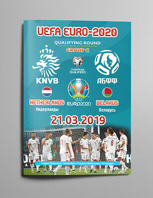 NETHERLANDS v BELARUS 21 March 2019 Q EURO-2020 official Belarus AWAY edition!