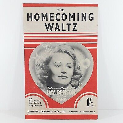 The Homecoming Waltz - Ivy Benson & Her Band - Vintage Sheet Music 1943