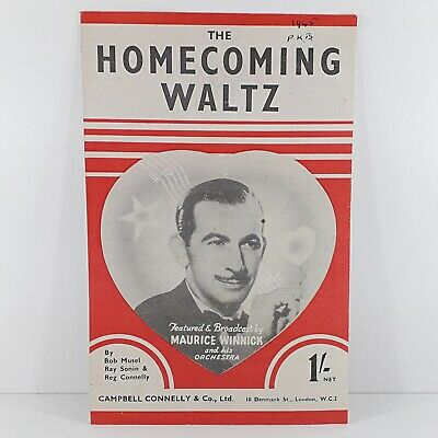The Homecoming Waltz - Maurice Winnick & Orchestra - Vintage Sheet Music 1943